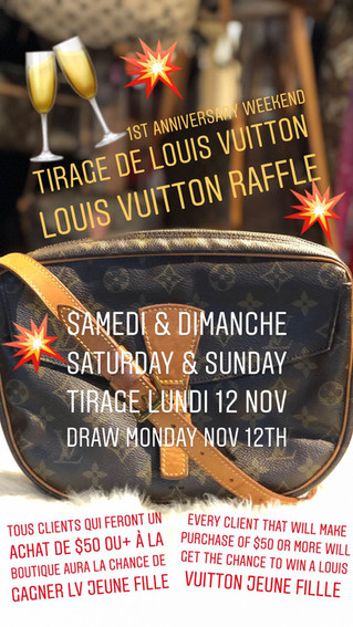 Louis Vuitton Raffle