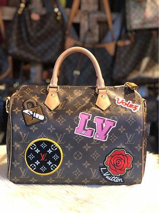 Louis Vuitton Monogram Patches Speedy 30 Bandoulière