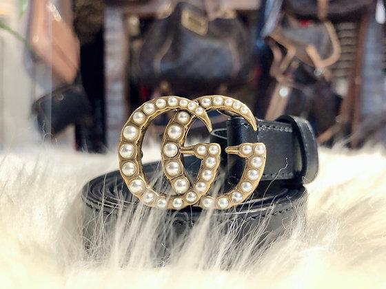 Gucci Marmont Pearl Skinny Belt