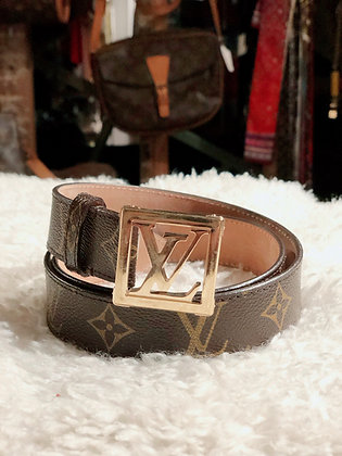 Louis Vuitton Monogram Logo Belt