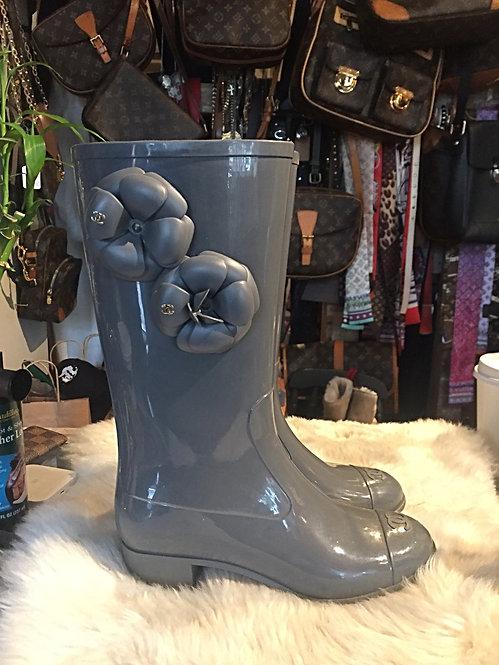 Chanel CC Galleria Rain Boots