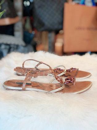 Louis Vuitton Monogram T-Strap Sandals