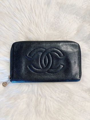 Chanel Timeless CC Zipped Wallet Caviar Long