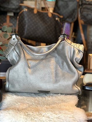 Burberry Silver Tote Bag
