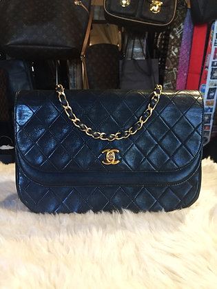 Chanel Vintage Double Flap Shoulder Bag