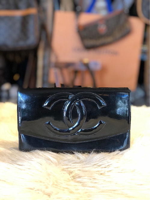 Chanel Parent Leather Clutch