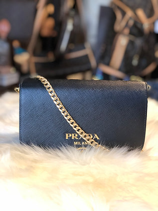 Prada Saffiano Lux Wallet on Chain