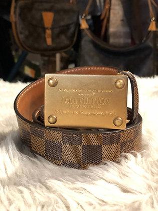 Louis Vuitton Damier Ébène Inventeur Belt