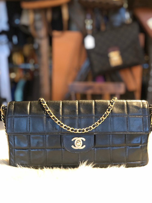 Chanel Chocolate Bar East West Flap Bag