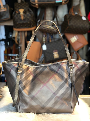 Burberry Shimmer Metallic Tote