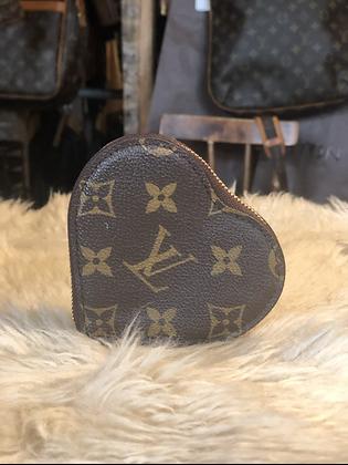 Louis Vuitton Monogram Leopard Heart Coin Purse
