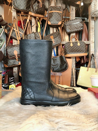 Gucci GG Leather Boots