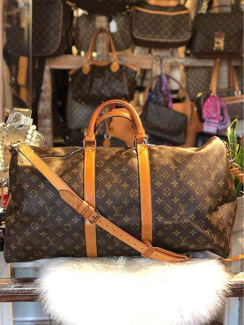Louis Vuitton Monogram Keepall 55 Bandoulière