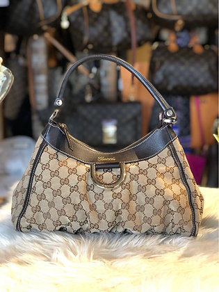 Gucci GG Canvas D-Ring Hobo