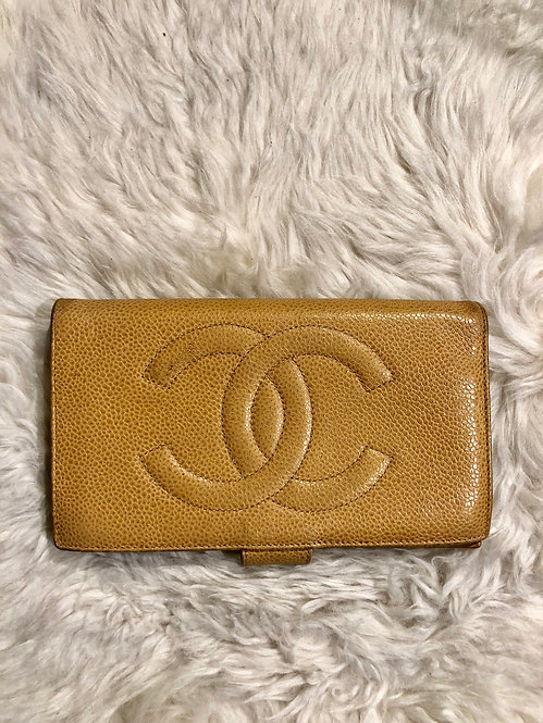 Chanel Long Caviar Wallet