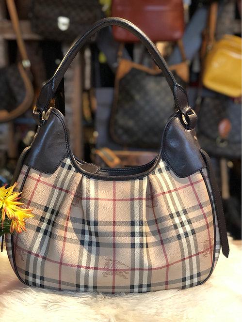Burberry Haymarket Hobo Bag