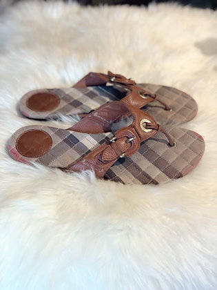 Burberry House Check Thong Sandals