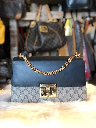 Gucci GG Supreme Padlock Shoulder Bag