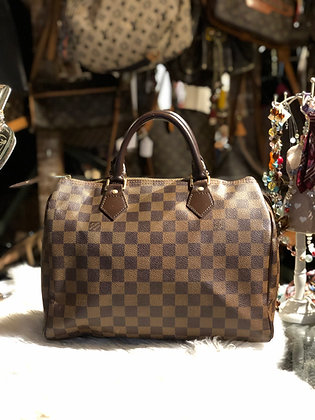 Louis Vuitton Damier Ébène Speedy 30 Bag