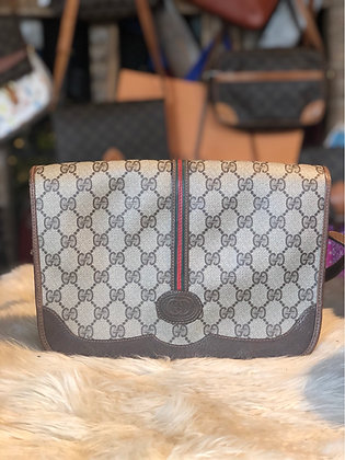 Gucci GG Plus Web Flap Bag