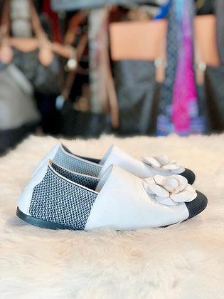 Chanel Camelia Leather Flats