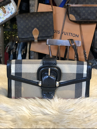 Burberry Check Flap Wallet