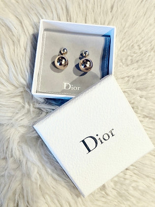 Christian Dior two-tone Tribales Stud Earings