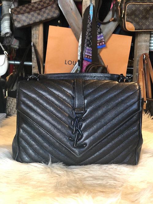 Yves St-Laurent Matelassé Medium College Bag