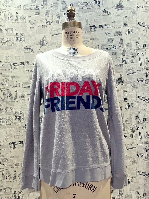 "Chaser ""Happy Friday Friends"" Sweater"