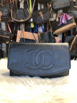 Chanel Caviar Timeless Wallet On A Chain