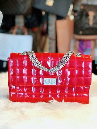 Chanel Patent Square Squilt Flap Bag