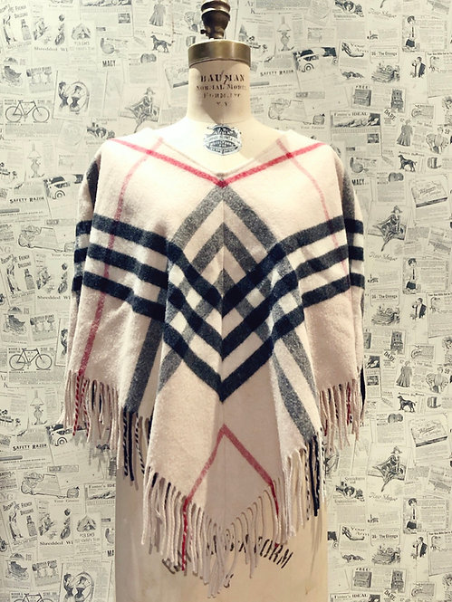 Burberry Wool Poncho