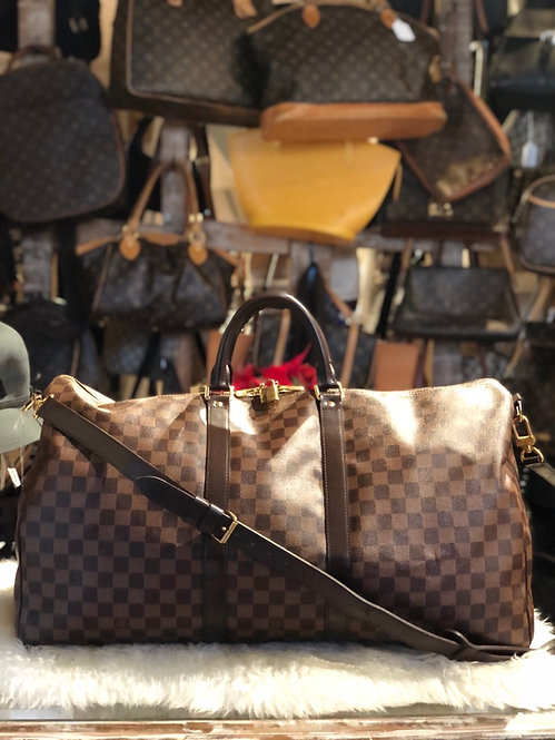 Louis Vuitton Keepall Damier Ébène Bandoulière 55