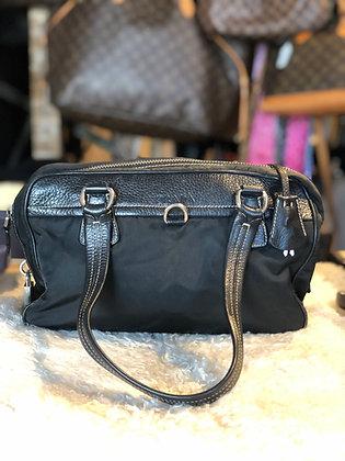 Prada leather Trimmed Tessuto Shoulder Bag