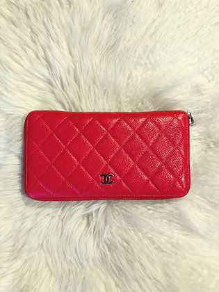 Chanel Quilted Caviar CC Wallet