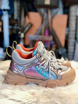 Gucci Flashtrek Metallic Sneakers