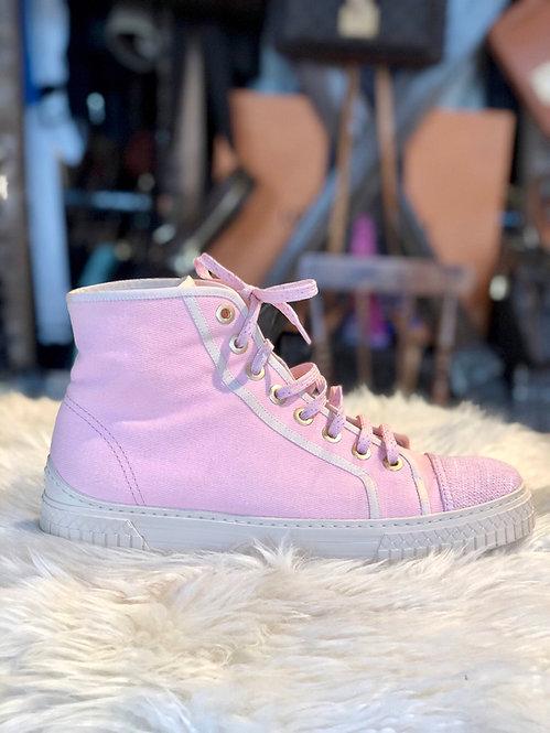 Chanel Pink Cuba Cruise Hightop Sneakers