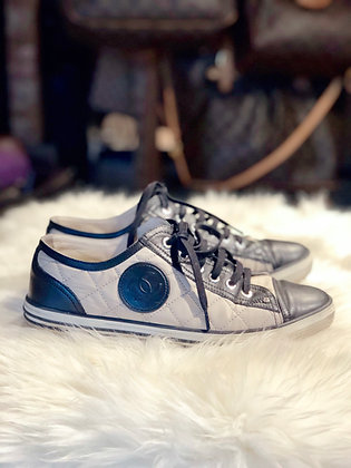 Chanel Quilted CC Low-Top Sneakers
