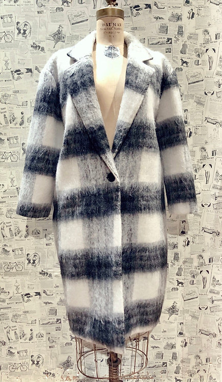 Sage Plaid Coat