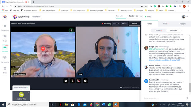CEO of Innolytics, Volodymyr Bandura, moderated the talk with Brad Templeton, Adviser to Waymo