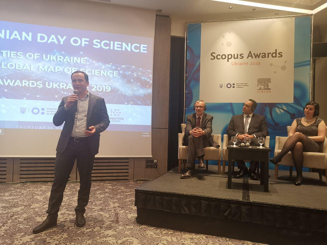 Volodymy Bandura, CEO of Innolytics Group, attended as the keynote speaker the Scopus Awards
