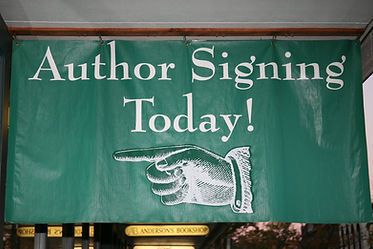 Book signing with author DL Tracey