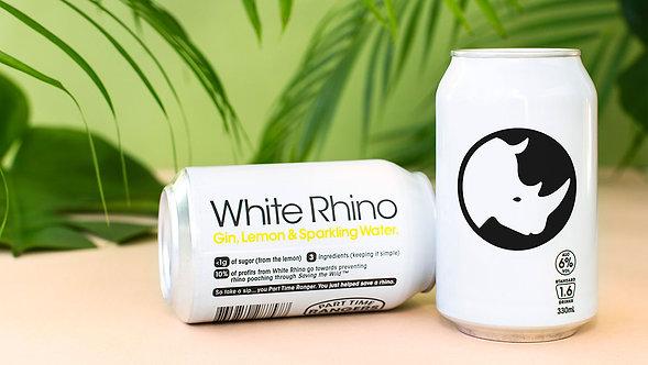 PTR White Rhino Gin/Lemon 10cans