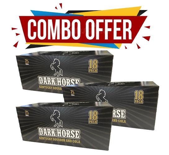 Dark Horse 18pk*3case Combo Offer