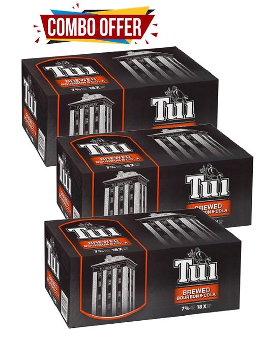 Tui Bourbon 18pk*3case Combo Deal