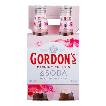 GORDON'S PINK 4 PK BTLS