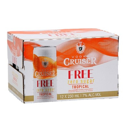 CRUISER ZERO TROPICAL 12PK CANS