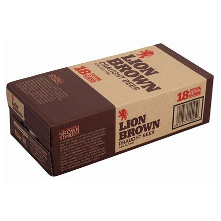 LION BROWN 18PK 330ML CANS