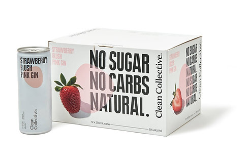 Clean Collective Strawberry Pink Gin 12pk Cans