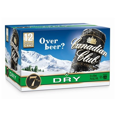 CANADIAN CLUB DRY 12 PK CANS 7%
